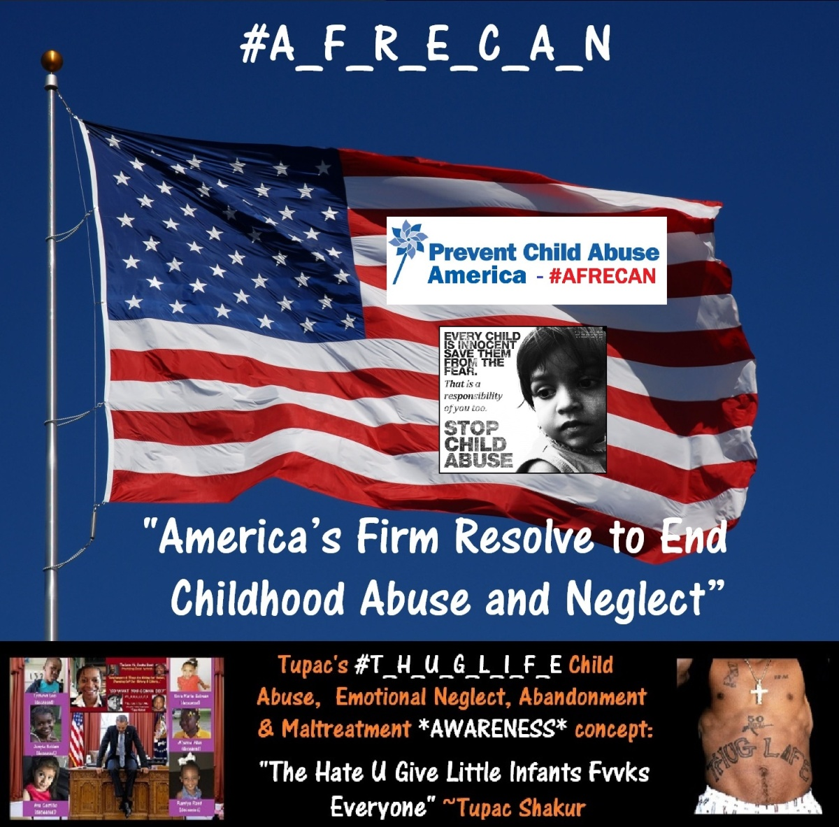 AFRECAN american flag