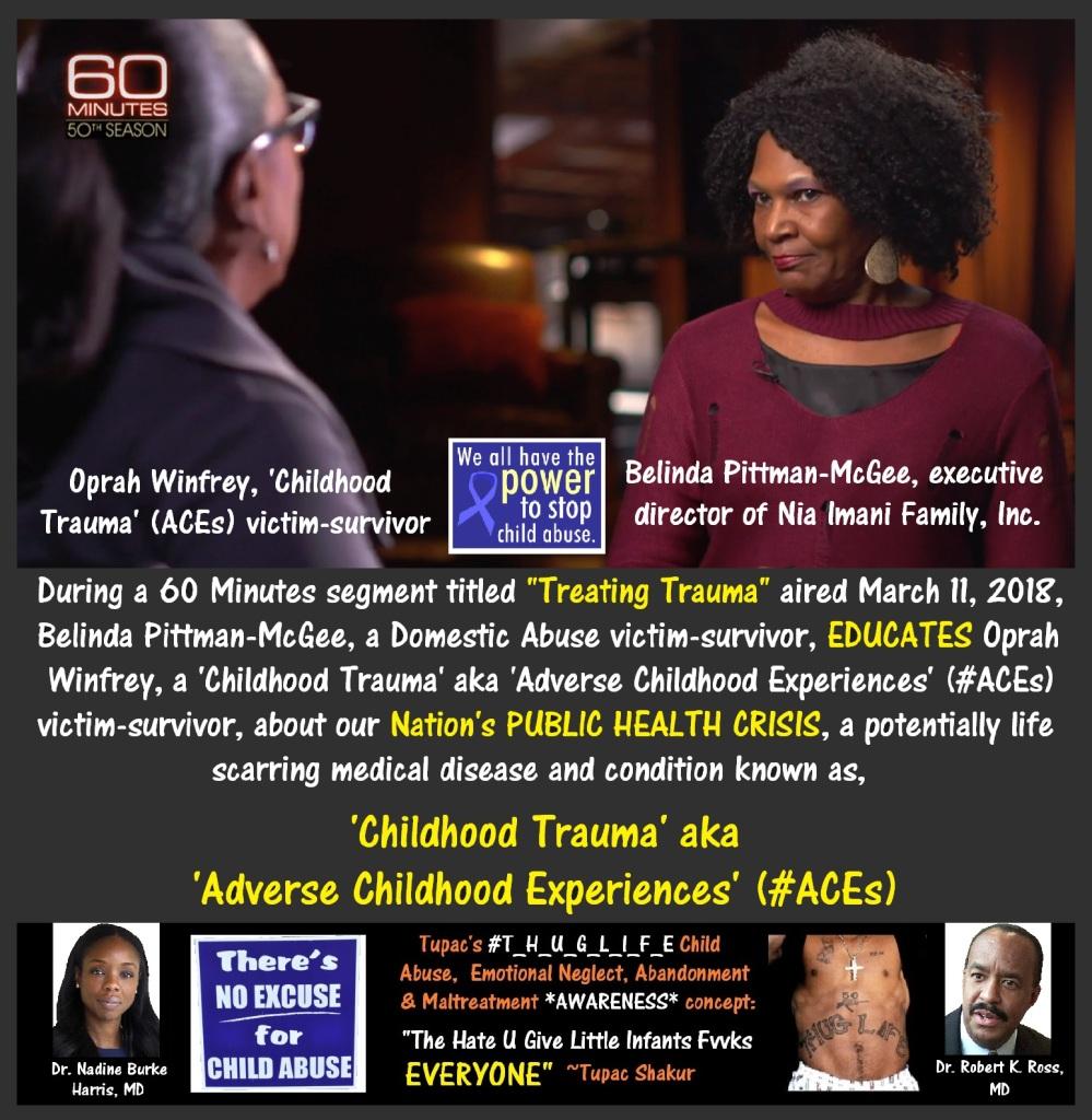 Belinda Pittman-McGee, Oprah Winfrey, Dr. Nadine Burke Harris, M.D., pediatrician
